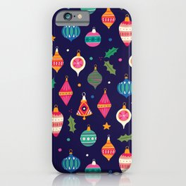Christmas ornaments pattern iPhone Case