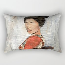 Geisha/Newspaper Serie Rectangular Pillow