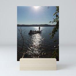 Fishing for bass Mini Art Print