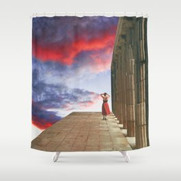 (I'll follow you to) The Edge of the World Shower Curtain