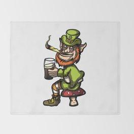 Wasted Leprechaun Throw Blanket