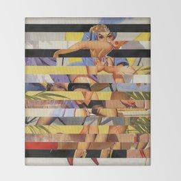 Glitch Pin-Up Redux: Courtney Throw Blanket