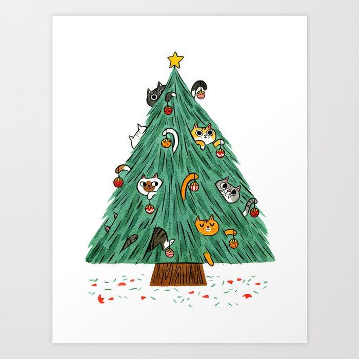 A messy Holiday Art Print