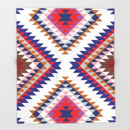 Aztec Rug Throw Blanket