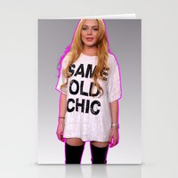 lindsay lohan Stationery Cards featuring LINDSAY SAME OLD CHIC by plasticdesigns