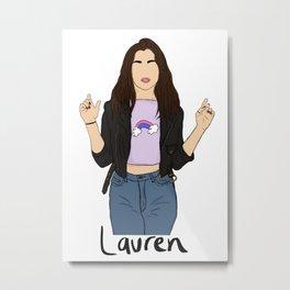 Lauren Jauregui (rainbow) Metal Print