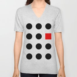 Must Fit In (Square) Unisex V-Neck