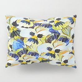 Delightful Summer Painted Pansies Pillow Sham