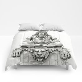 Lord Shiva Painting, Shiva Art, Meditation Shiva Portrait Comforters