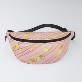Creeping Flower & Leaves 3 Fanny Pack