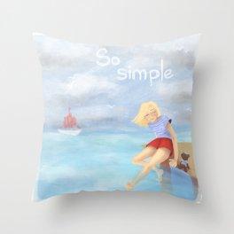 So simple Throw Pillow