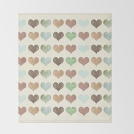 DG HEARTS - RUSTIC Throw Blanket
