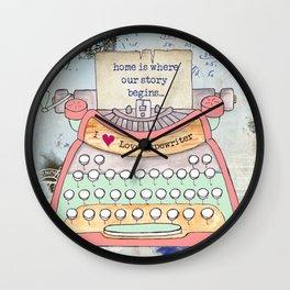 Typewriter #7 Wall Clock