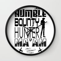 cowboy bebop Wall Clocks featuring Quote Bebop by AngoldArts