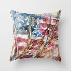 USA FLAG...VOTE Throw Pillow