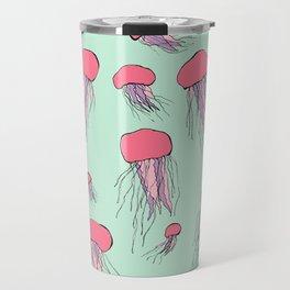 Pastel colors jellyfish Travel Mug