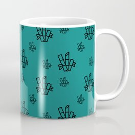 Seamless Pattern Black Bamboo Blue Background 9 Coffee Mug