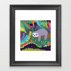 Sloth in nature Framed Art Print