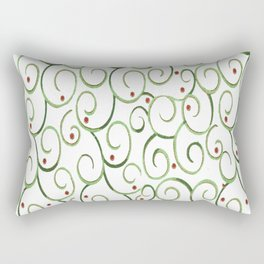 mid-century swirl Rectangular Pillow