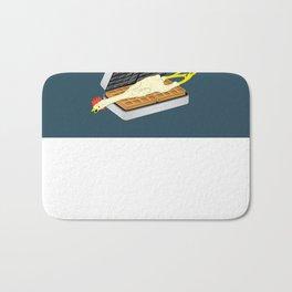 Rubber Chicken & Waffles Bath Mat