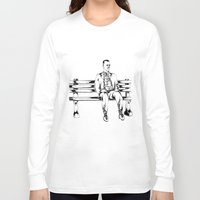 forrest gump Long Sleeve T-shirts featuring Forrest Gump by Christine S.