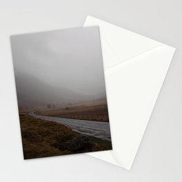 Highland Road in Scotland Stationery Cards