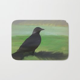 Crow and Feather Bath Mat