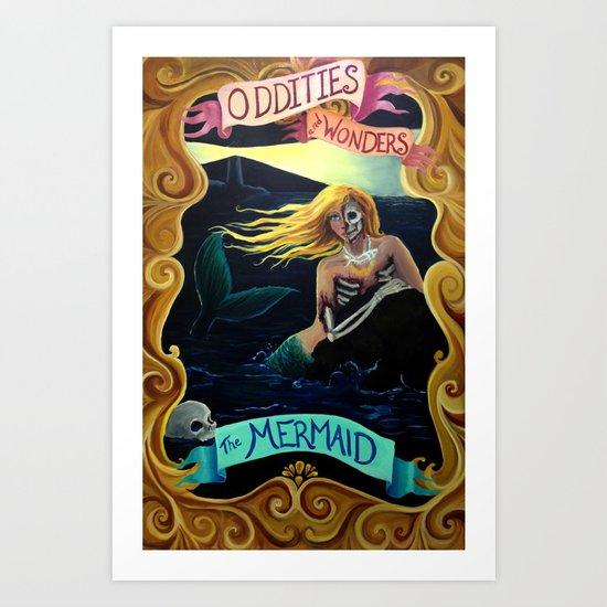 Carnival Sideshow - The Mermaid Art Print