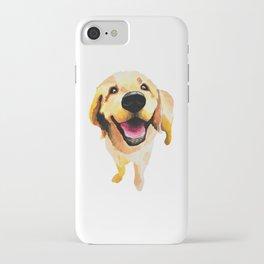 Good Boy / Yellow Labrador Retriever dog art iPhone Case