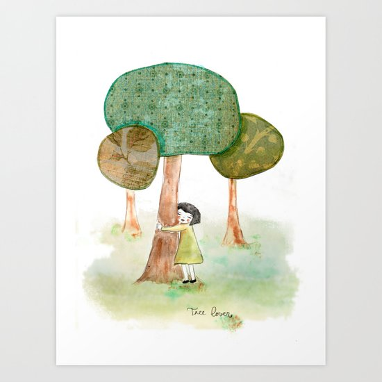 Tree Lover Art Print