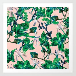 Tropical Bramble Pink Art Print