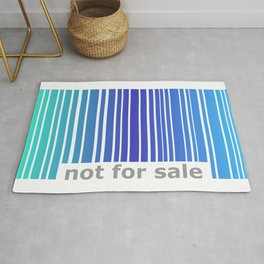 Not For Sale Barcode - Blues Rug