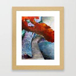 Fall Path Framed Art Print