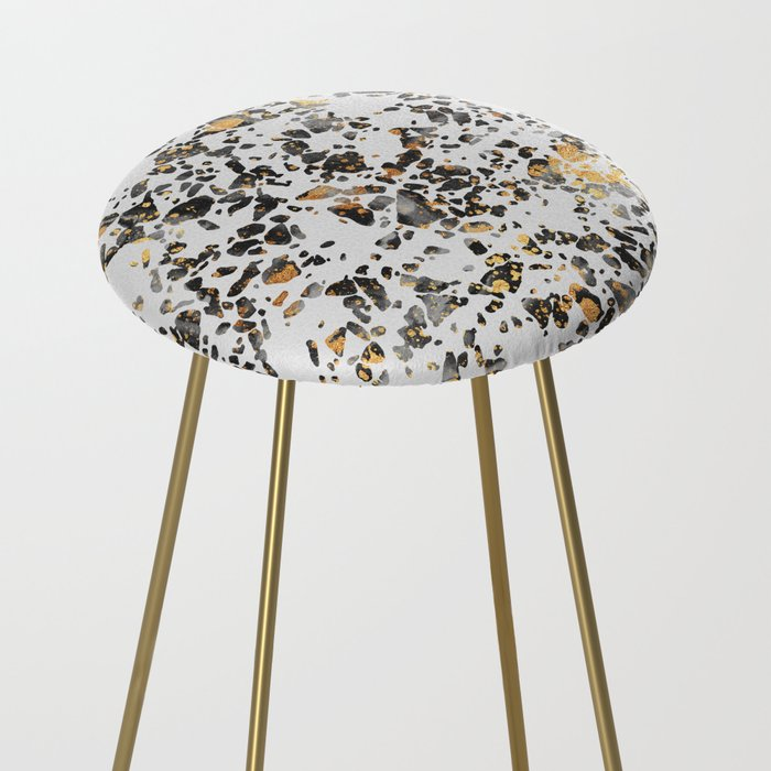 Gold Speckled Terrazzo Counter Stool