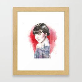 Nature Girl Framed Art Print