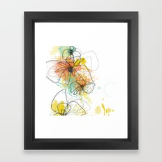 Orange Botanica Framed Art Print
