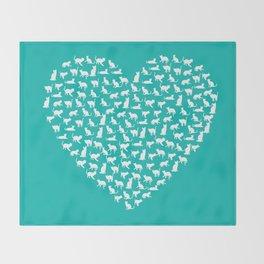 I Heart Cats Throw Blanket