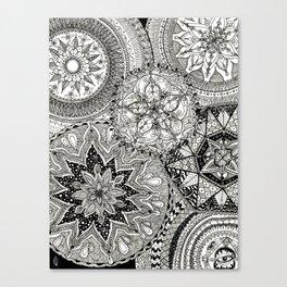 Freehand Full Page Mandalas Canvas Print