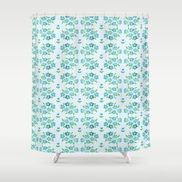 Country floral 1 Shower Curtain