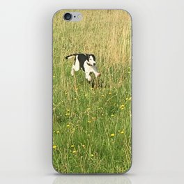 Happiness is running wild and free, and not letting your feet touch the ground! iPhone Skin