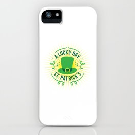 Lucky St. Patricks Day iPhone Case