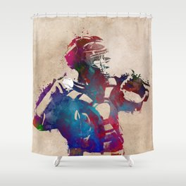 Baseball player 1 #baseball #sport Shower Curtain