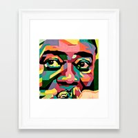 louis armstrong Framed Art Prints featuring Louis Armstrong by Zelica Alexander