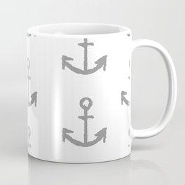 Anchors - white with gray Coffee Mug