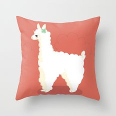 Alpaca Throw Pillow