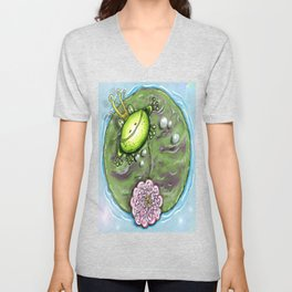 Frog Prince on His Lily Pad Unisex V-Neck