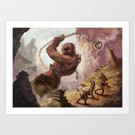 Giant's Wrath Art Print
