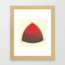 Le Rouge-Orangé (ses diverses nuances combinées avec le noir) Vintage Remake, no text Framed Art Print