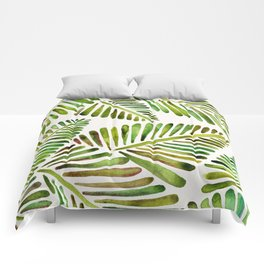 Tropical Banana Leaves – Green Palette Comforters
