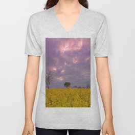 Blooming in yellow # Unisex V-Neck